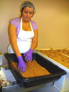 Making English Toffee candy